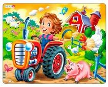 Рамка-вкладыш Larsen Дети на ферме Трактор (BM7), 15 дет.