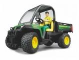 Грузовик Bruder John Deere Gator XUV 855D c фигуркой водителя (02-490)