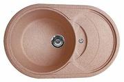 Врезная кухонная мойка Gran-Stone GS-18S 77х49см искусственный мрамор
