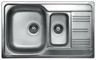 Врезная кухонная мойка Kromevye Colea EX306 80х50см нержавеющая сталь