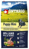 Корм для собак Ontario Puppy Mini Lamb & Rice