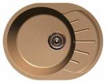 Врезная кухонная мойка GranFest Rondo GF-R580L 58х45см искусственный мрамор