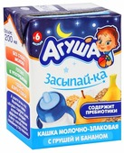 Каша Агуша молочная злаковая Засыпай-ка с грушей и бананом (с 6 месяцев) 200 мл