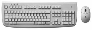 Клавиатура и мышь Logitech Cordless Desktop Deluxe 650 White USB