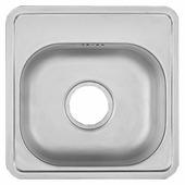 Врезная кухонная мойка UKINOX Comfort COM 381.381-GT6K 1C 38.1х38.1см нержавеющая сталь
