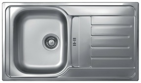 Врезная кухонная мойка Kromevye Triton EX321 86х50см нержавеющая сталь