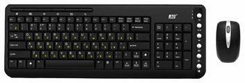 Клавиатура и мышь BTC 6309URF Black USB