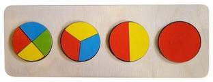 Рамка-вкладыш Нескучные игры Геометрия Круг (7936), 10 дет.