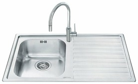 Врезная кухонная мойка smeg LLR861-2 86х50см нержавеющая сталь