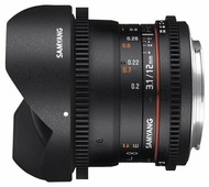 Объектив Samyang 12mm T3.1 ED AS NCS VDSLR Fish-eye Sony E