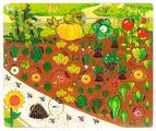 Рамка-вкладыш Нескучные игры Овощи на грядке (7907), 34 дет.