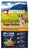 Корм для собак Ontario Puppy Medium Lamb & Rice