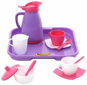 """Набор посуды Полесье """"Алиса"""" с подносом на 2 персоны 40589"""
