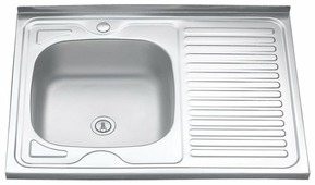 Накладная кухонная мойка MELANA MLN-8060 80х60см нержавеющая сталь