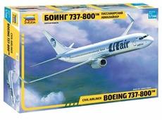 Сборная модель ZVEZDA Пассажирский авиалайнер Боинг 737-800 (7019) 1:144