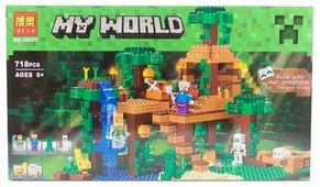 Конструктор BELA My World 10471 Домик на дереве в джунглях