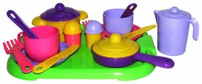 """Набор посуды Полесье """"Хозяюшка"""" с подносом на 2 персоны 4053"""