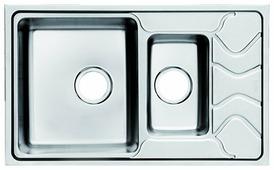 Врезная кухонная мойка IDDIS Reeva REE78SXi77 78х48см нержавеющая сталь