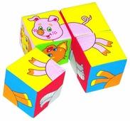Кубики-пазлы Мякиши Собери картинку Животные
