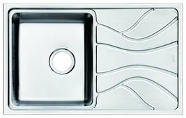 Врезная кухонная мойка IDDIS Reeva REE78SLi77 78х48см нержавеющая сталь