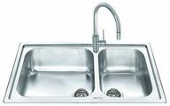 Врезная кухонная мойка smeg LGM862 86х50см нержавеющая сталь