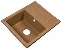 Врезная кухонная мойка Rossinka Silvermix RS56-46SW 55х45.2см искусственный мрамор