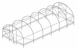 Каркас теплицы Воля Дачная-2Д (пленка) 200х300см