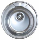 Врезная кухонная мойка Kromrus EC-445 49х49см нержавеющая сталь