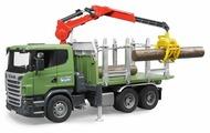 Лесовоз Bruder Scania с портативным краном и брёвнами (03-524) 1:16 54 см