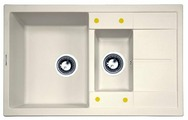 Врезная кухонная мойка Zigmund & Shtain RECHTECK 780.2 78х50см искусственный гранит