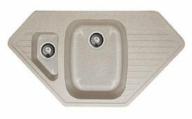 Врезная кухонная мойка Gran-Stone GS-10K 97.5х49.5см искусственный гранит