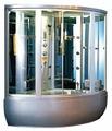 Комбинированная кабина APPOLLO GUCI-856 высокий поддон 148см*148см