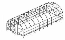 Каркас теплицы Воля Дачная-2ДУ (пленка) 200х300см