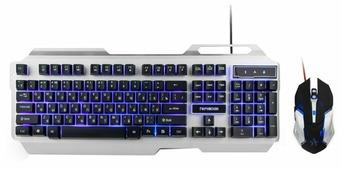 Клавиатура и мышь Гарнизон GKS-510G Silver-Black USB