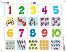 Рамка-вкладыш Larsen Математика Счет до 10 (AR3), 10 дет.