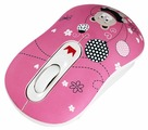 Мышь CROWN MICRO CMM-928W Bear Pink USB