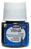 Краски Pebeo Vitrail Синий Темный 050010 1 цв. (45 мл.)