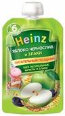 Пюре Heinz яблоко, чернослив и злаки (с 6 месяцев) 90 г, 1 шт.