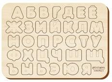 Рамка-вкладыш Woodland Изучаем буквы и алфавит (092102), 33 дет.