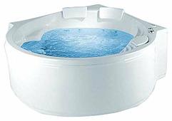 Ванна POOLSPA ROMA 208x140 TITANIUM акрил угловая