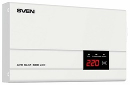Стабилизатор напряжения SVEN AVR SLIM 500 LCD