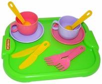 """Набор посуды Полесье """"Минутка"""" с подносом на 2 персоны 9516"""