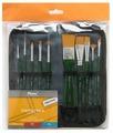 Набор кистей Pinax Creative, синтетика универсальная, с короткой ручкой, 10 шт.