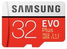 Карта памяти Samsung microSDHC EVO Plus 95MB/s + SD adapter