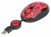 Мышь G-CUBE GLCR-20R Red-Black USB