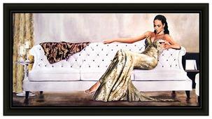 Репродукция Декарт Девушка на диване