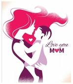 Открытка ND Play Love You Mom (273832), 1 шт.