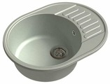 Врезная кухонная мойка GranFest Quarz GF-Z58 62х48см искусственный мрамор