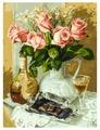 """Белоснежка Картина по номерам """"Розы и шоколад"""" 30х40 см (283-AS)"""