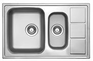 Врезная кухонная мойка FLORENTINA Профи 780.500.1К 78х50см нержавеющая сталь
